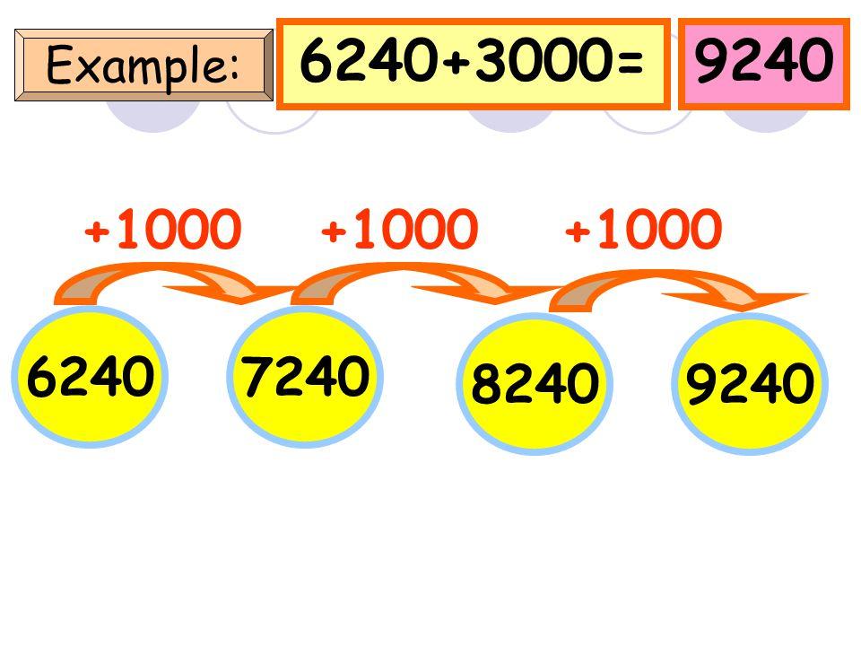 5200+3000=8200 Example: 5200 +1000 6200 72008200 +1000