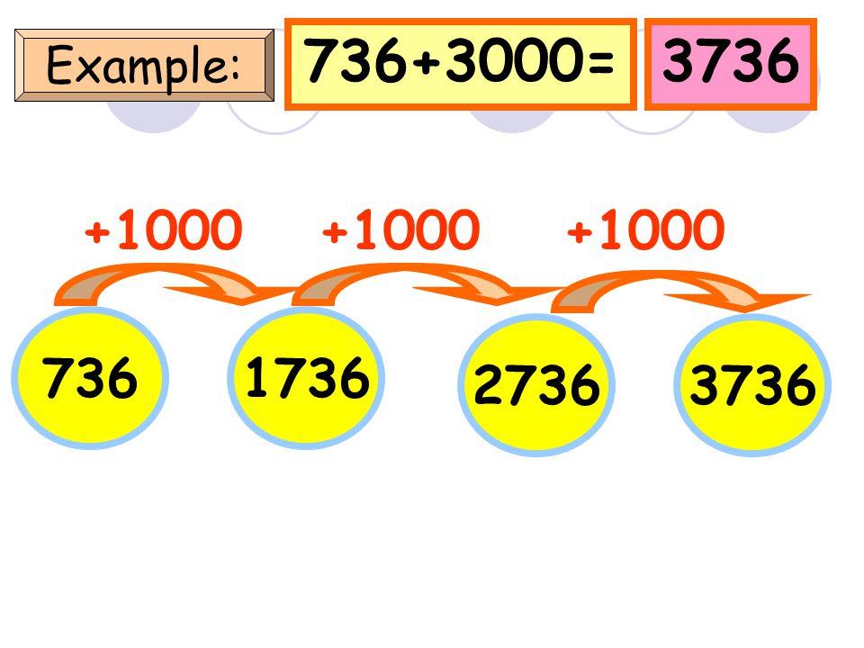 58+3000=3058 Example: 58 +1000 1058 20583058 +1000