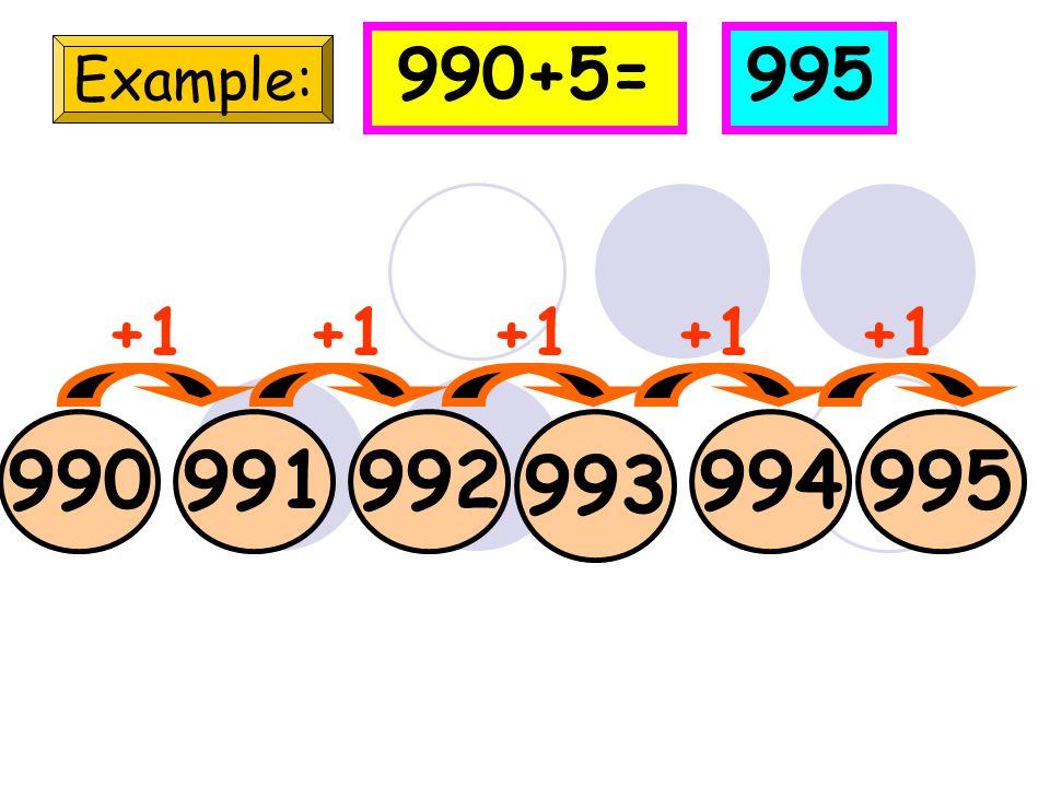 99 Example: 100101 102 +1 99+5=104 103104 +1