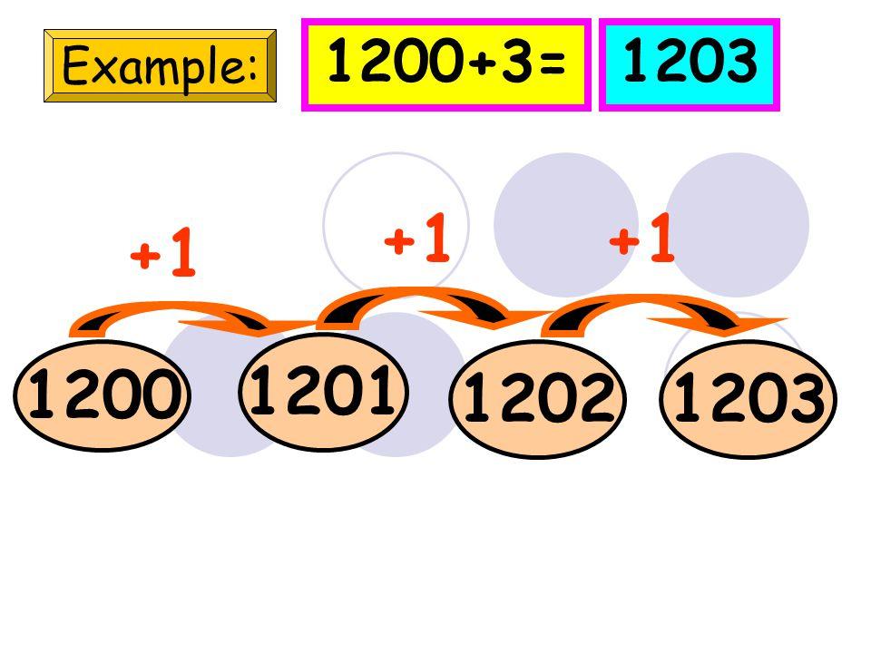 990 Example: 991992 993 +1 990+5=995 994995 +1