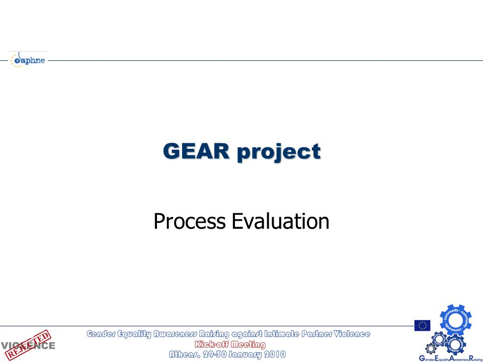 GEAR project Process Evaluation