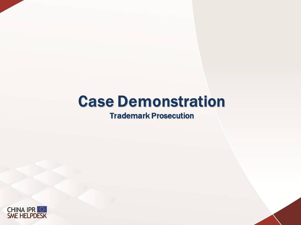 Case Demonstration Trademark Prosecution