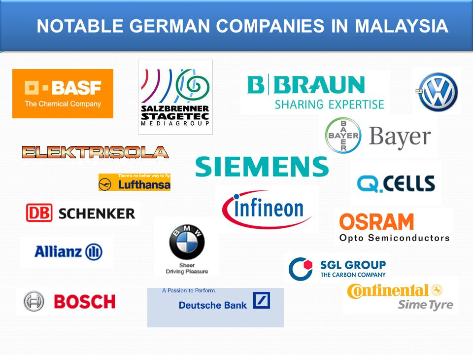 NOTABLE GERMAN COMPANIES IN MALAYSIA