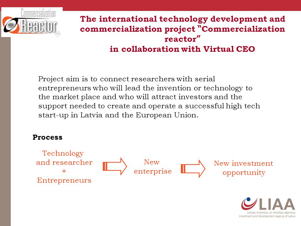 "The international technology development and commercialization project "" Commercialization reactor "" in collaboration with Virtual CEO Project aim is"