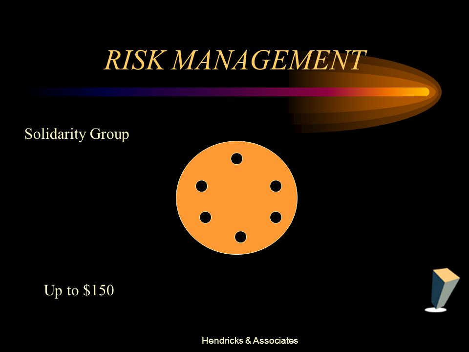 Hendricks & Associates RISK MANAGEMENT Up to $150 Solidarity Group
