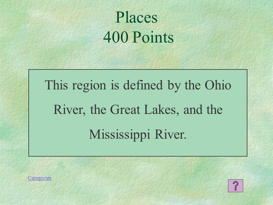 Places 300 Points Categories What is Maryland?
