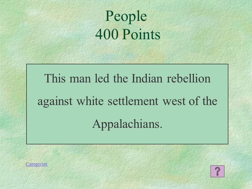 People 300 Points Categories Who were the Loyalists?