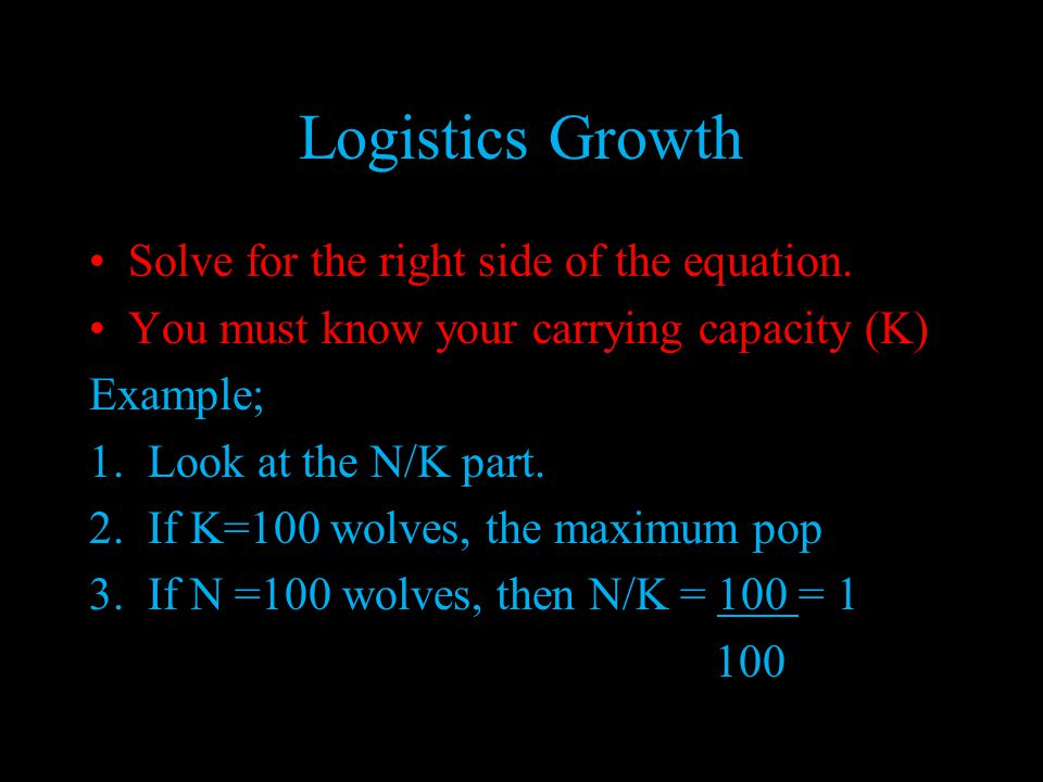 Logistics Growth Model (S)