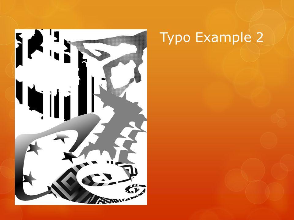 Typo Example 2