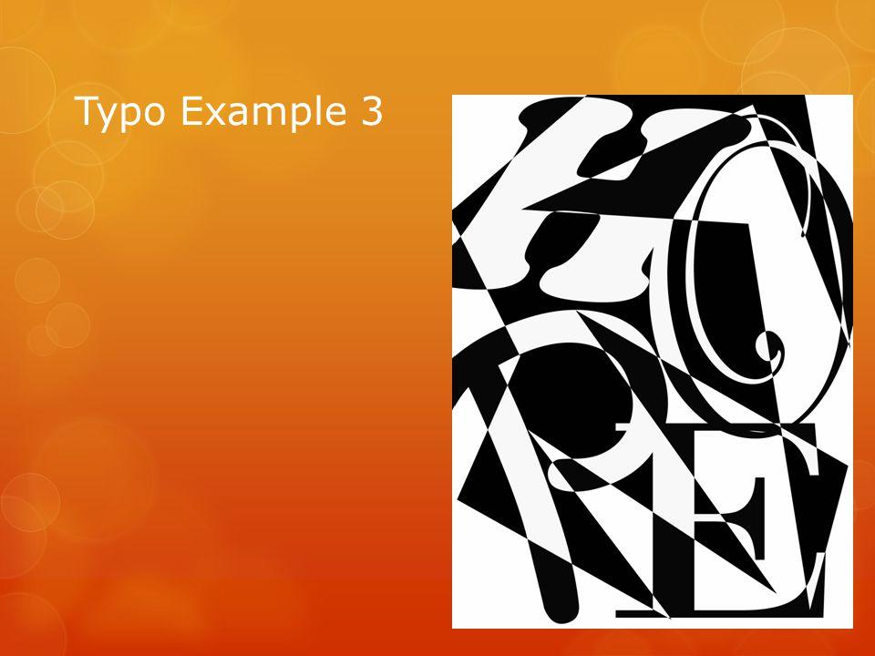 Typo Example 3