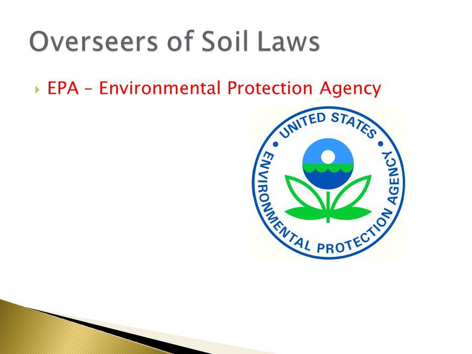  EPA – Environmental Protection Agency