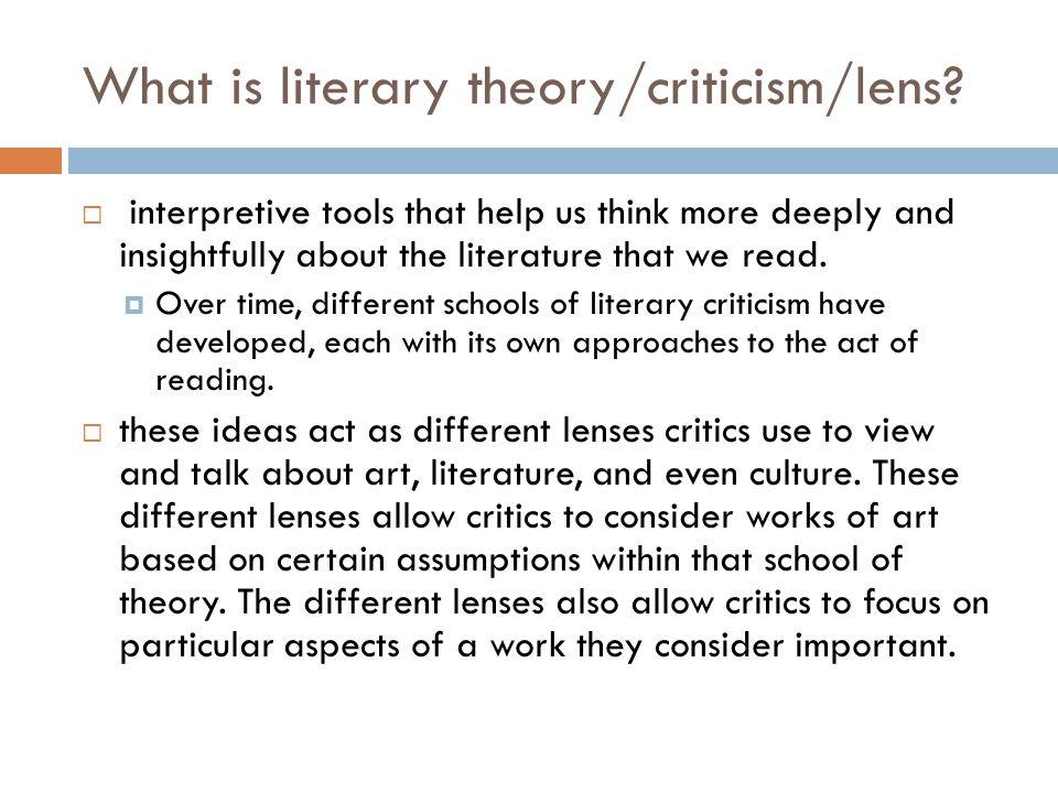 critical lens essay sample