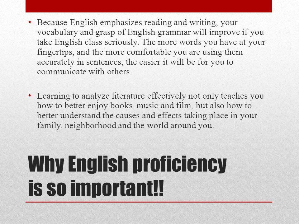 Why English proficiency is so important!.