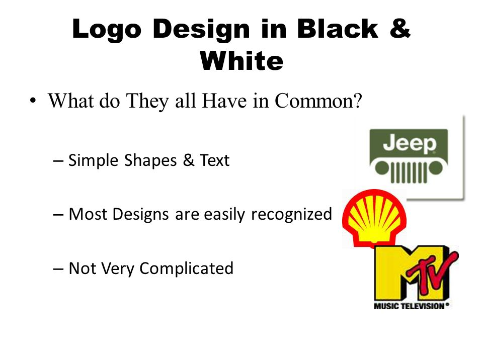Logo Design in Black & White What do They all Have in Common.