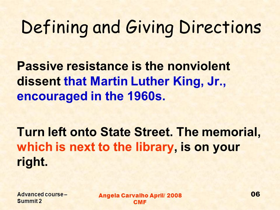 Advanced course – Summit 2 Angela Carvalho April/ 2008 CMF Thinking about grammar Why aren't the clauses in blue in between commas? Why are the ones i