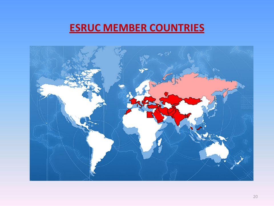 ESRUC MEMBER COUNTRIES 20
