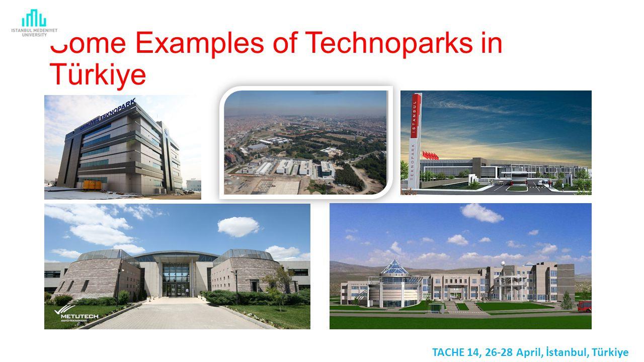 Some Examples of Technoparks in Türkiye TACHE 14, 26-28 April, İstanbul, Türkiye