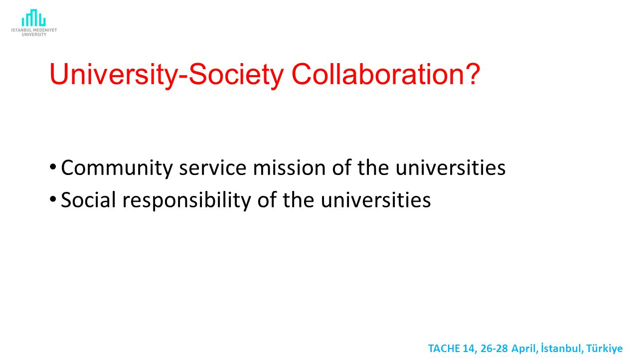University-Society Collaboration.