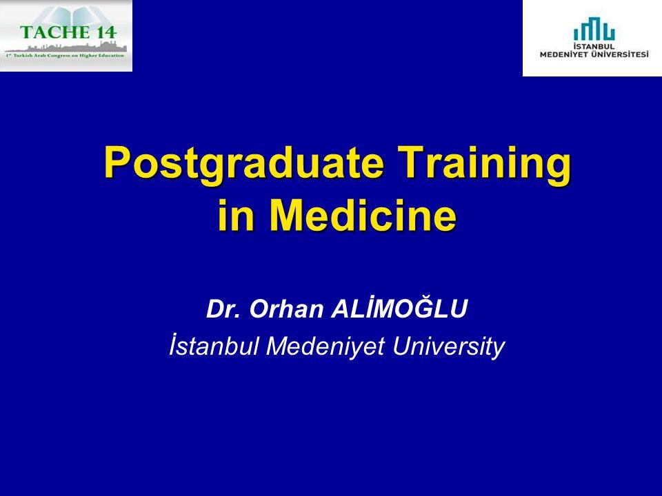 Postgraduate Training in Medicine Dr. Orhan ALİMOĞLU İstanbul Medeniyet University