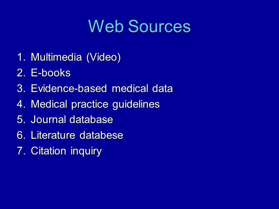 1.Multimedia-Video Access Medicine (McGraw Hill)Access Medicine (McGraw Hill) –http://www.accessmedicine.com/audioVide o.aspx http://www.accessmedicine.com/audioVide o.aspxhttp://www.accessmedicine.com/audioVide o.aspx