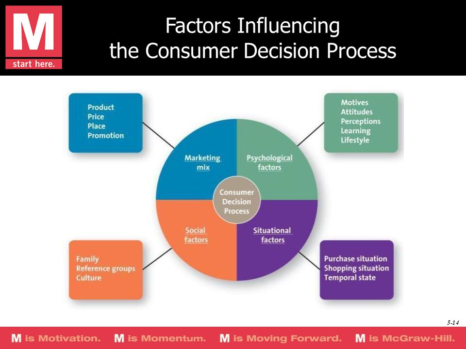 Factors Influencing the Consumer Decision Process 5-14