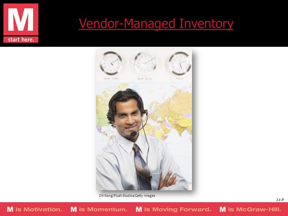 Vendor-Managed Inventory DH Kong/Plush Studios/Getty Images 14-9