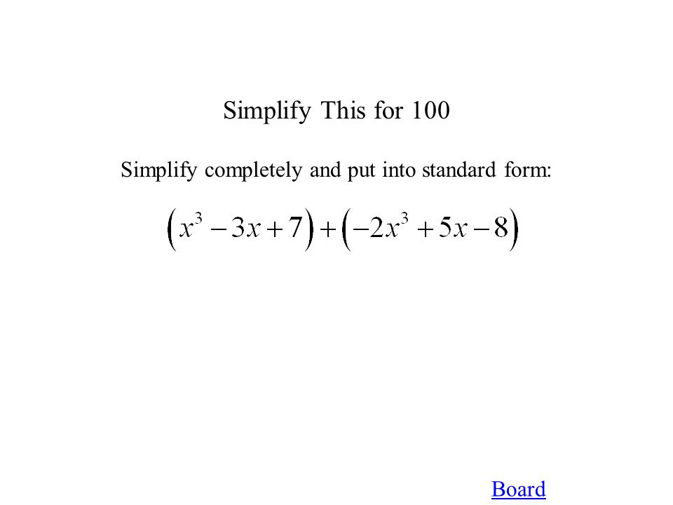 Board Factor That for 300 Factor Completely: