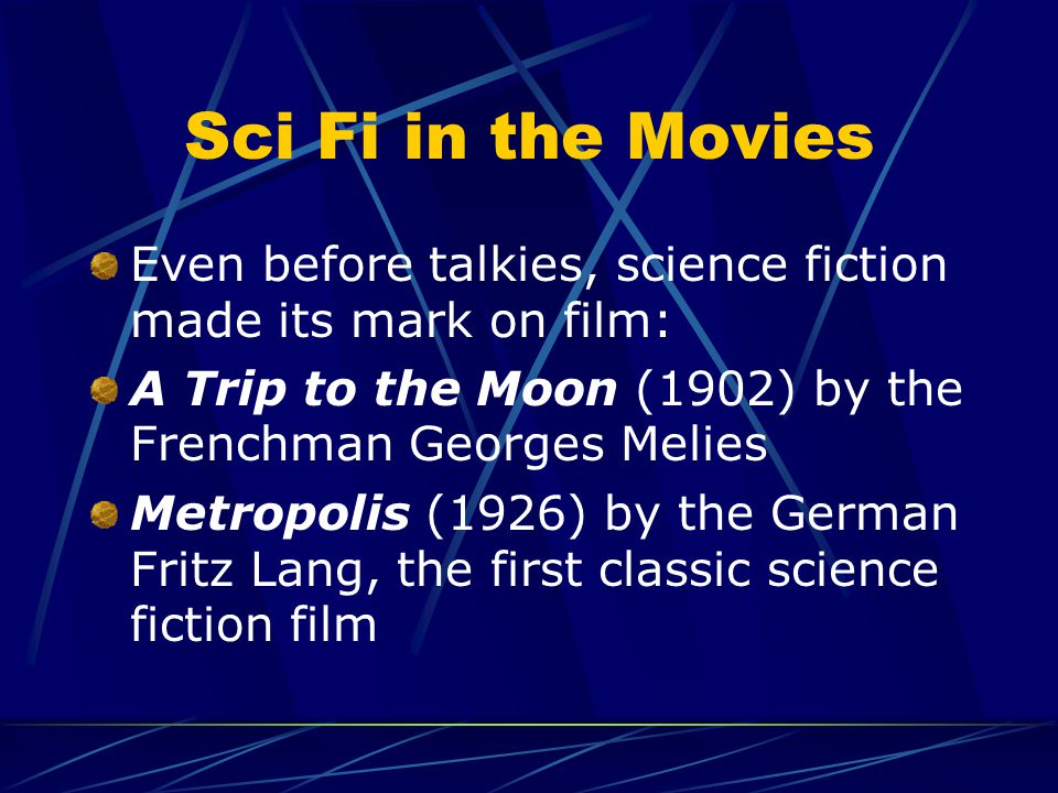 "Why should we study Science Fiction? Entertaining Makes the audience wonder ""What If?"" Encourages creativity in writing and role- playing Introduces s"