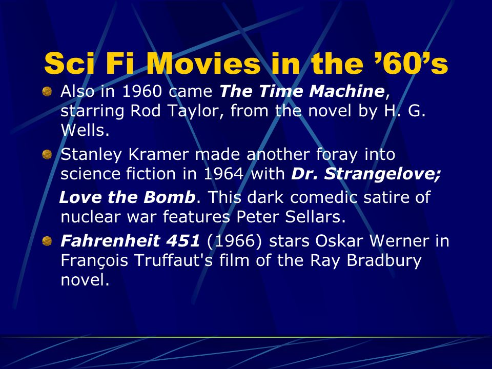 HE FIFTIES B An estimated 500 feature films and shorts that can be classified science fiction were made between 1948 and 1962. Science fiction really