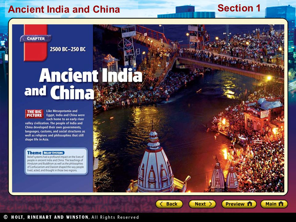 Ancient India and China Section 1
