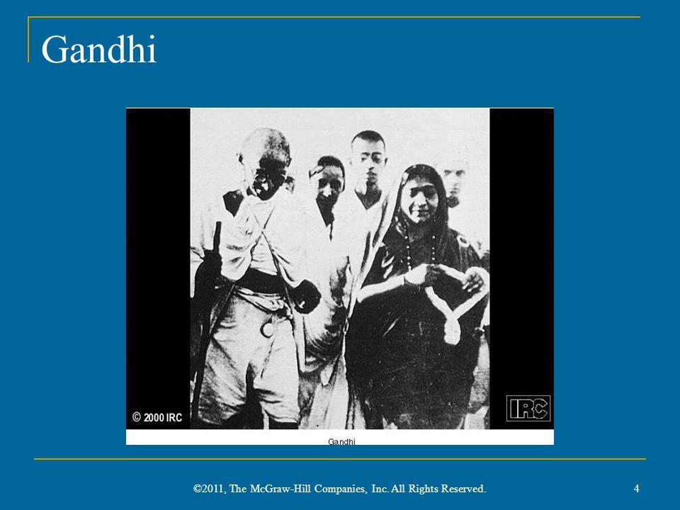 Gandhi's Passive Resistance Ahimsa: nonviolence Satyagraha: passive resistance ( truth and firmness ) Non-Cooperation Movement (1920-1922) Civil Disobedience Movement (1930) Boycott of British institutions Amritsar Massacre (1919) 5 ©2011, The McGraw-Hill Companies, Inc.