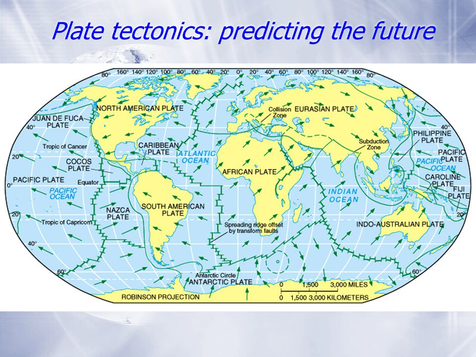 Plate tectonics: predicting the future