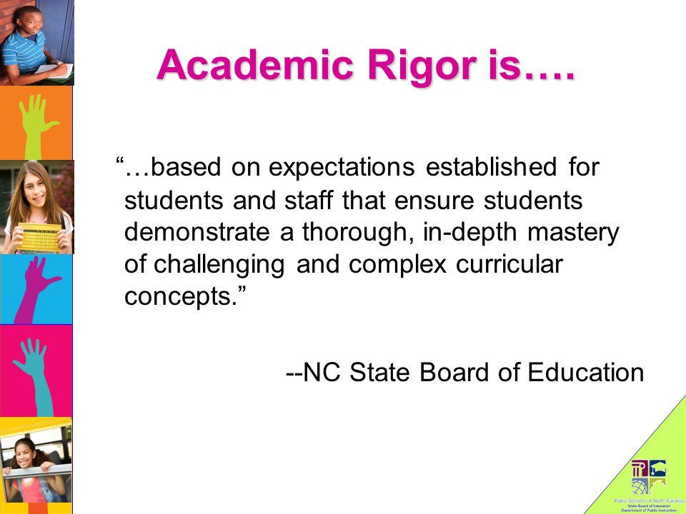 Academic Rigor is….