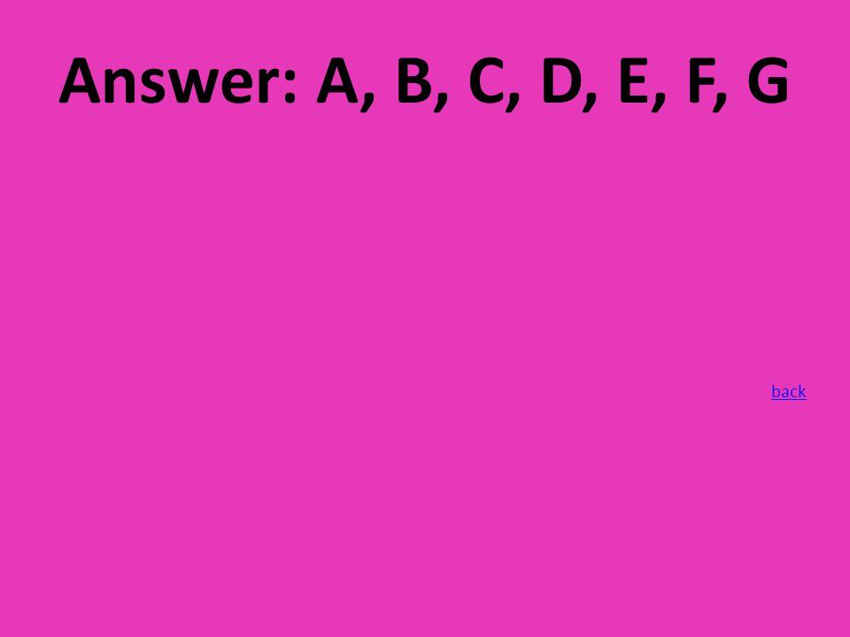 Answer: A, B, C, D, E, F, G back