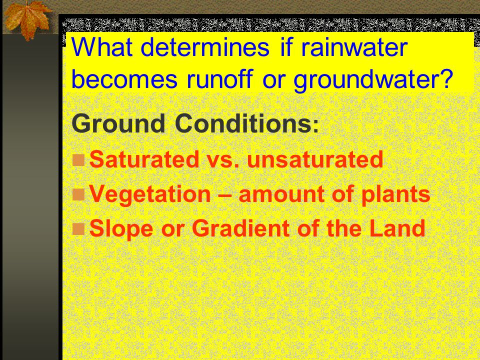 3 factors affecting Stream Velocity  Gradient – slope of the stream  Discharge – volume of water  Stream channel shape