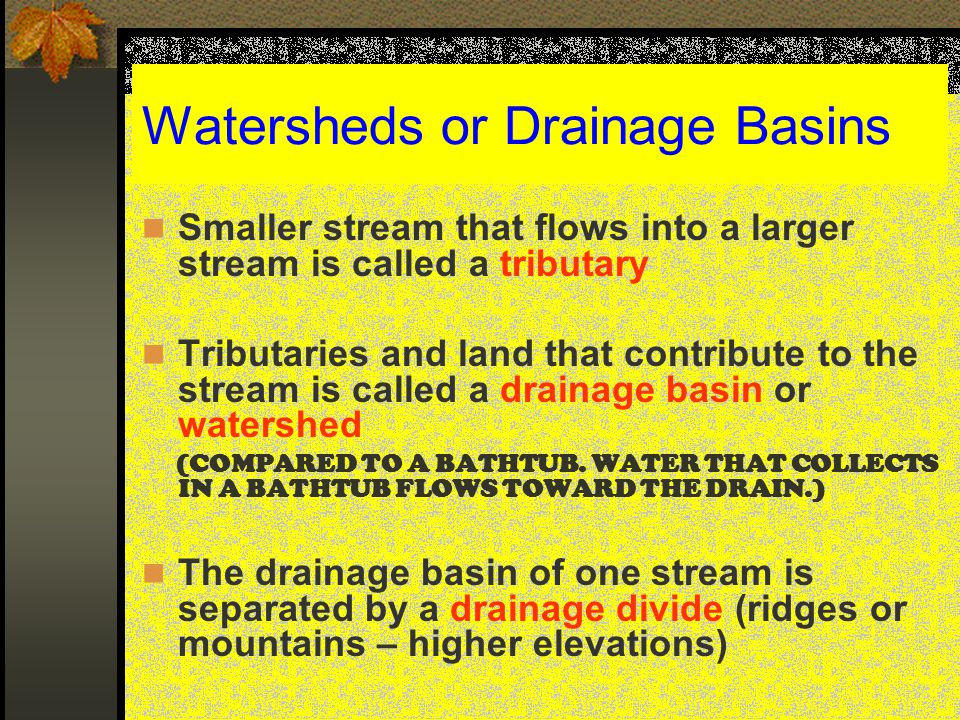 THE GREATER THE VELOCITY OF A STREAM…  THE LARGER THE SEDIMENT PARTICLES IT CAN CARRY  THE MORE TOTAL SEDIMENTS IT CAN CARRY