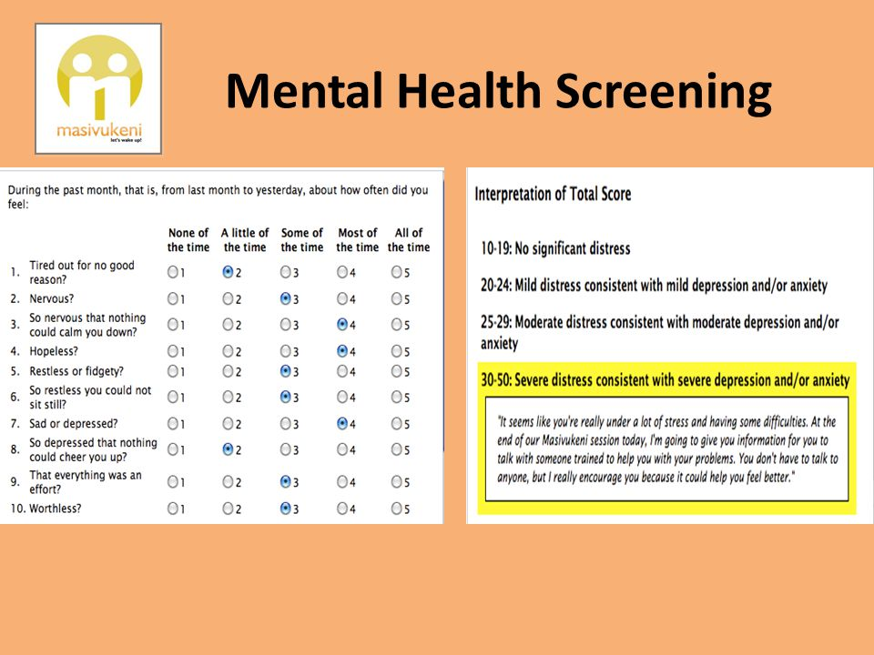 Mental Health Screening