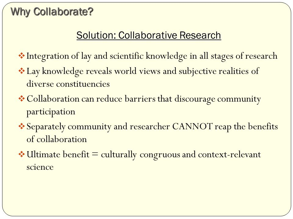 Low Collaboration Project When we began meeting, we found out that it was an extraordinarily burdensome demand on us.