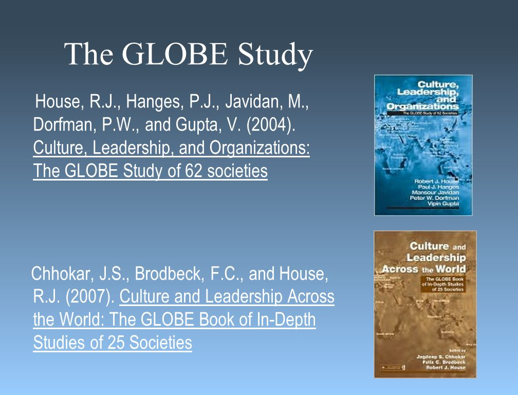 Leadership Defined The ability of an individual to influence, motivate, and enable others to contribute toward the effectiveness and success of the organizations of which they are members (the GLOBE Study)