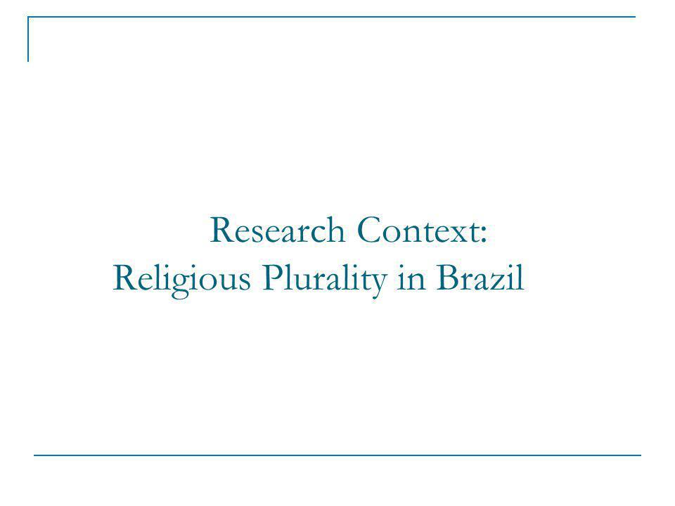 Research Context: Religious Plurality in Brazil