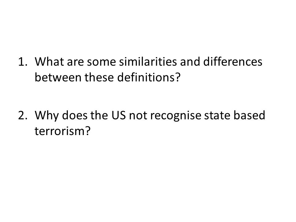 1.What are some similarities and differences between these definitions.
