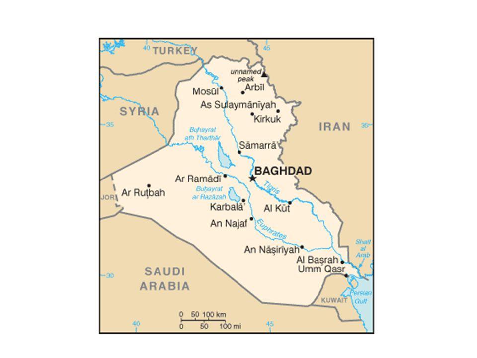 Background Ottomon Empire WWI Independence Anglo-Iraqi War Republic of Iraq Saddam Hussein's regime Conflict with Iran Human Rights abuses – Kurdish massacres Gulf War