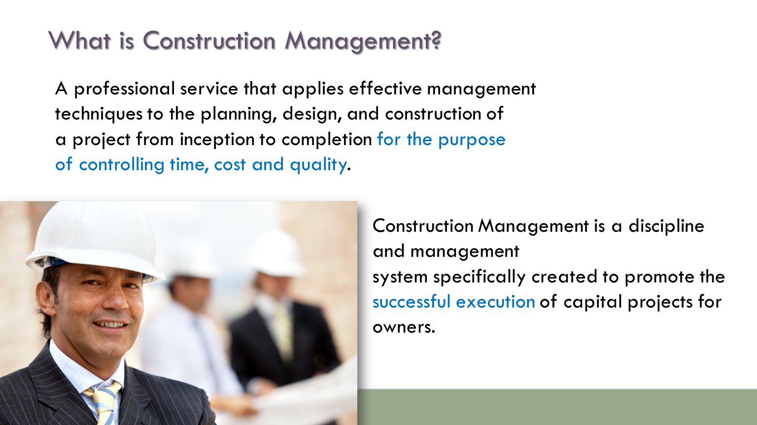 What is Construction Management.