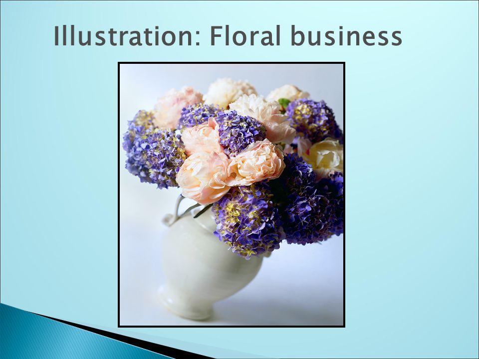 Illustration: Floral business
