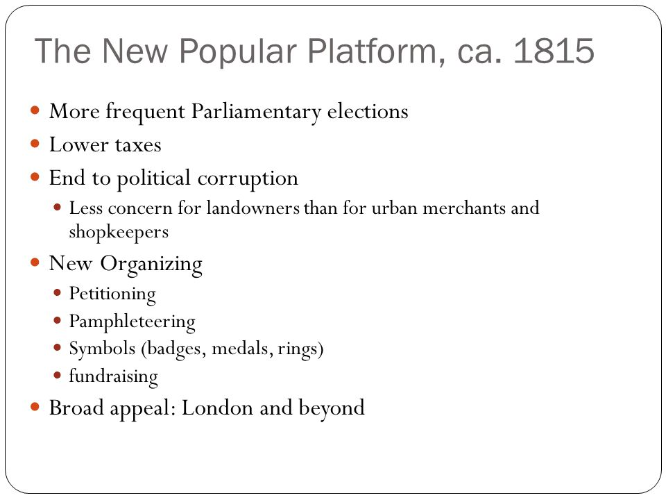 The New Popular Platform, ca.