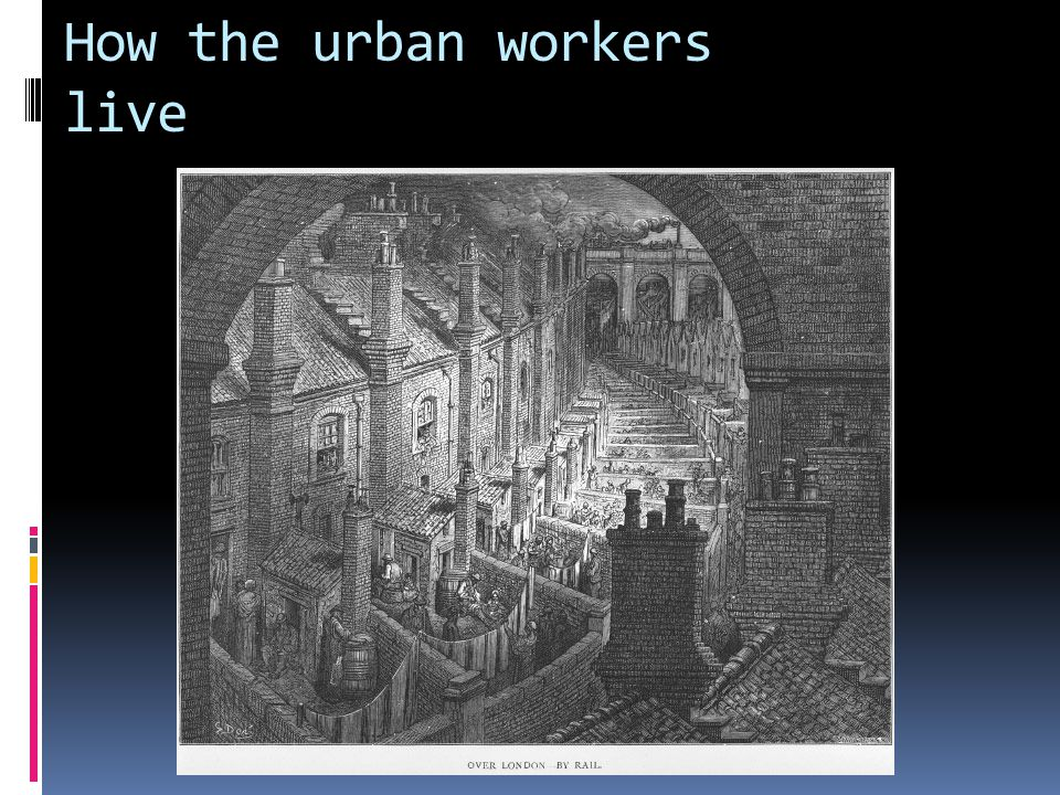 How the urban workers live