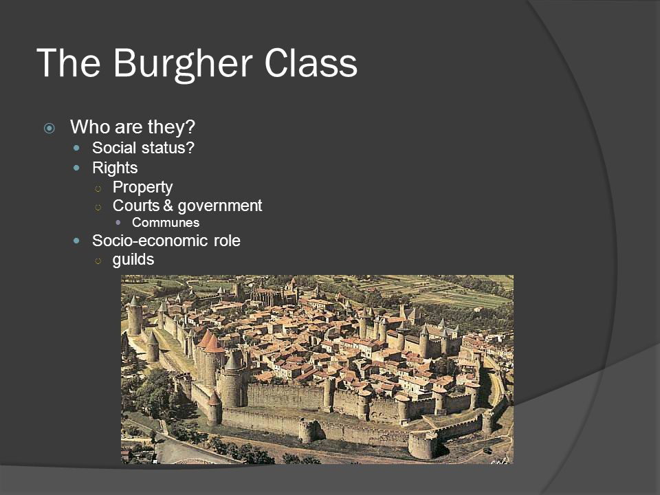 The Burgher Class  Who are they. Social status.