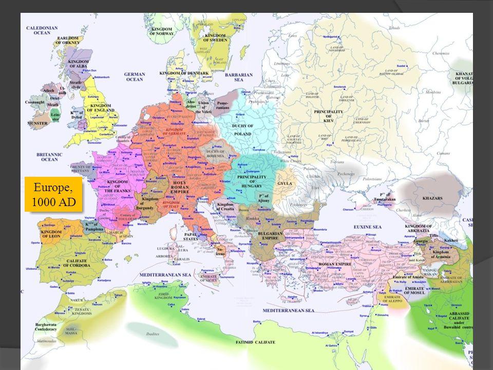 Europe, 1000 AD