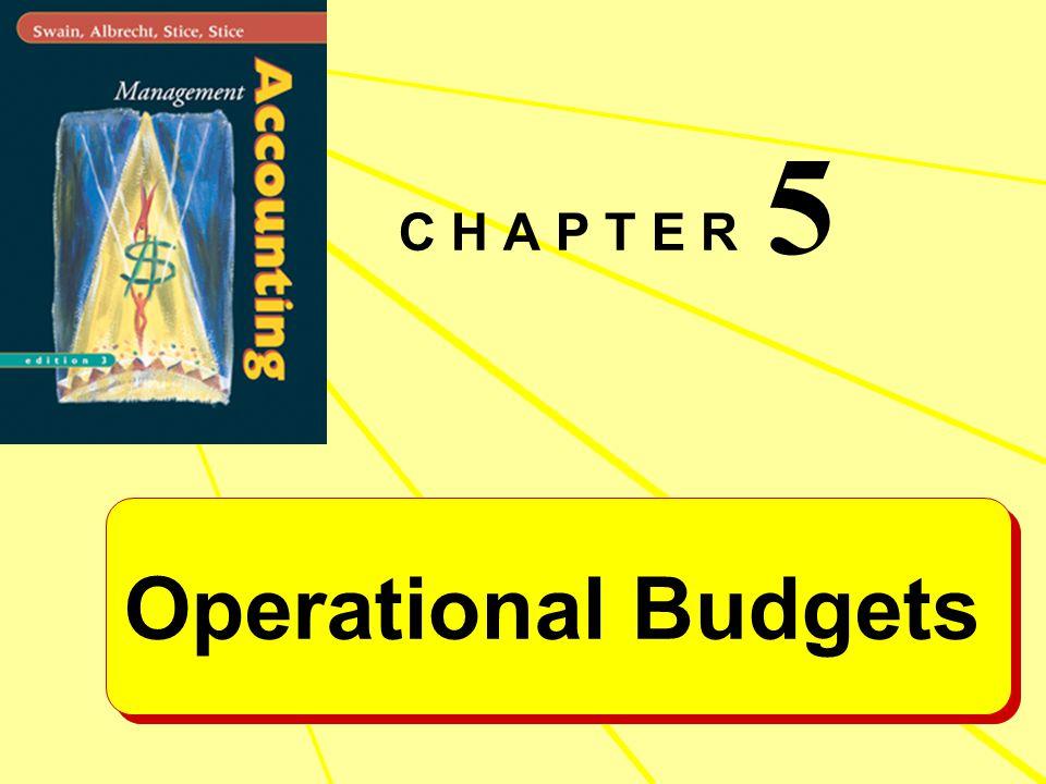 C H A P T E R 5 Operational Budgets