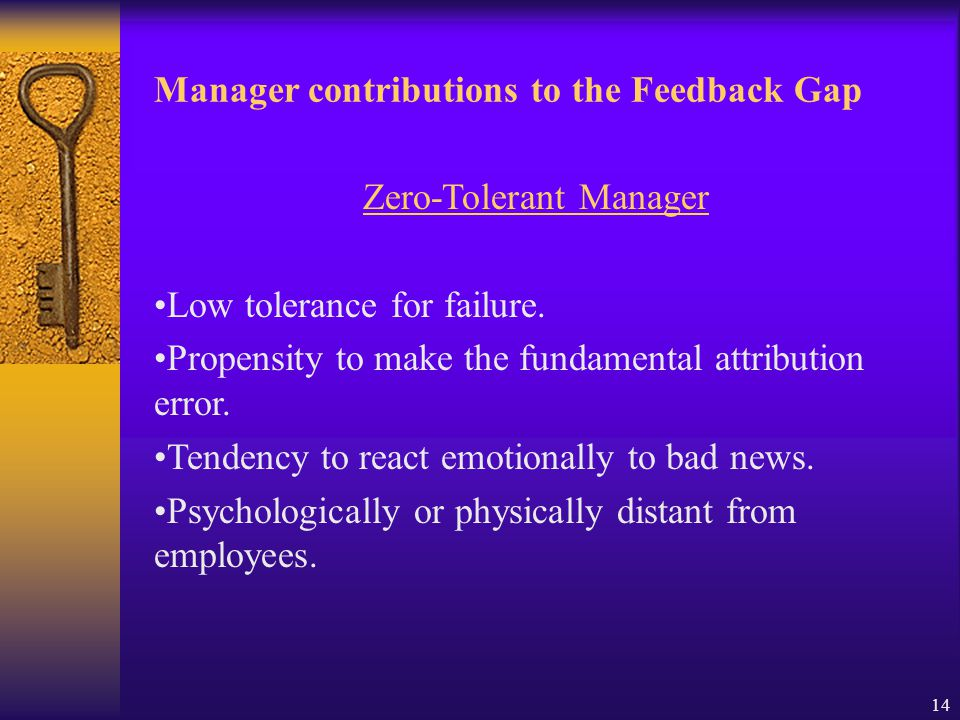 13 Employee contributions to the Feedback Gap: Personal factors which encourage FAB Propensity to seek positive feedback.